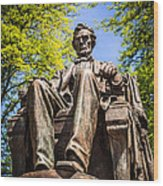 Chicago Abraham Lincoln Sitting Statue Wood Print