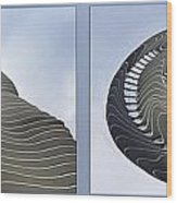 Chicago Abstract Before And After Radisson Blu Hotel 2 Panel Wood Print