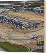 Chicago Airplanes 03 Wood Print