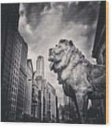 Art Institute of Chicago Lion Picture Wood Print