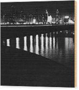 Chicago At Night Wood Print