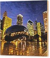 Chicago Night Wood Print