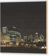 Chicago Bears-chicago Skyline Wood Print