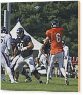 Chicago Bears G Matt Slauson Training Camp 2014 02 Wood Print