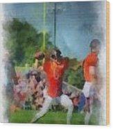 Chicago Bears Qb Jay Cutler Training Camp 2014 Pa 01 Wood Print