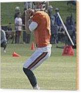 Chicago Bears Qb Jimmy Clausen Training Camp 2014 03 Wood Print
