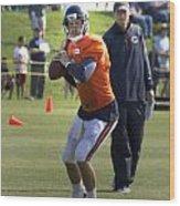 Chicago Bears Qb Jordan Palmer Training Camp 2014 04 Wood Print