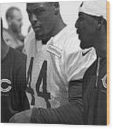 Chicago Bears S Adrian Wilson Training Camp 2014 Bw Wood Print