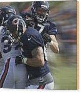 Chicago Bears Te Jeron Mastrud Moving The Ball Training Camp 2014 Wood Print