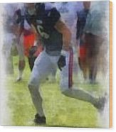 Chicago Bears Te Zach Miller Training Camp 2014 Pa 01 Wood Print