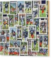 Chicago Bears Training Camp 2014 Collage Pa 01 Wood Print