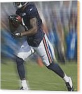 Chicago Bears Training Camp 2014 Moving The Ball 03 Wood Print