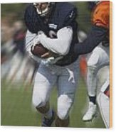 Chicago Bears Training Camp 2014 Moving The Ball 05 Wood Print
