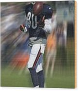 Chicago Bears Wr Armanti Edwards Moving The Ball Training Camp 2014 Wood Print