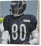 Chicago Bears Wr Armanti Edwards Training Camp 2014 01 Wood Print
