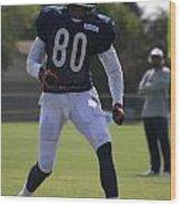 Chicago Bears Wr Armanti Edwards Training Camp 2014 03 Wood Print