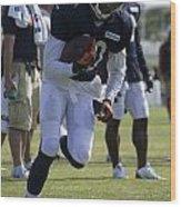 Chicago Bears Wr Armanti Edwards Training Camp 2014 05 Wood Print