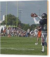 Chicago Bears Wr Armanti Edwards Training Camp 2014 08 Wood Print