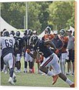 Chicago Bears Wr Brandon Marshall Training Camp 2014 05 Wood Print