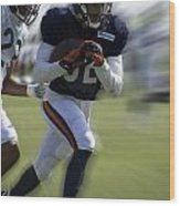 Chicago Bears Wr Chris Williams Moving The Ball Training Camp 2014 Wood Print