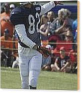 Chicago Bears Wr Chris Williams Training Camp 2014 04 Wood Print