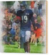 Chicago Bears Wr Josh Morgan Training Camp 2014 Pa 01 Wood Print