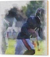 Chicago Bears Wr Micheal Spurlock Training Camp 2014 04 Pa 01 Wood Print