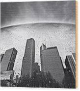 Chicago Black And White Photography Wood Print