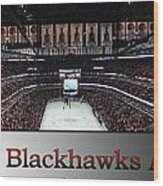 Chicago Blackhawks At Home Panorama Sb Wood Print