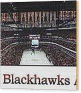 Chicago Blackhawks At Home Panorama White Wood Print