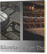 Chicago Blackhawks Before The Gates Open Interior 2 Panel Sb Wood Print