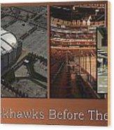 Chicago Blackhawks Before The Gates Open Interior 2 Panel Tan 01 Wood Print