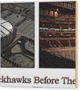 Chicago Blackhawks Before The Gates Open Interior 2 Panel White 01 Wood Print