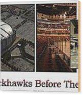Chicago Blackhawks Before The Gates Open Interior 2 Panel White 02 Wood Print