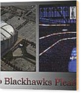 Chicago Blackhawks Please Stand 2 Panel Sb Wood Print