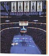 Chicago Blackhawks Please Stand Up Wood Print