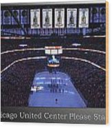Chicago Blackhawks Please Stand Up With White Text Sb Wood Print