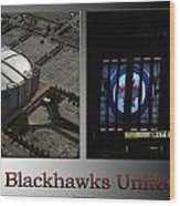 Chicago Blackhawks United Center 2 Panel Sb Wood Print