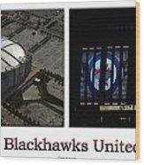 Chicago Blackhawks United Center 2 Panel White Signage Wood Print