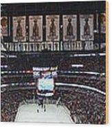 Chicago Blackhawks United Center Panorama 03 Wood Print