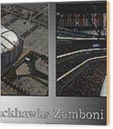 Chicago Blackhawks Zamboni Break Time 2 Panel Sb Wood Print