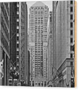 Chicago Board Of Trade Wood Print by Christine Till
