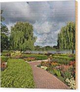 Chicago Botanical Gardens - 97 Wood Print by Ely Arsha
