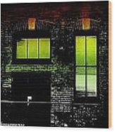 Chicago Brick Facade Glow Wood Print