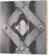 Chicago Bridge Iron Close-Up Picture Wood Print