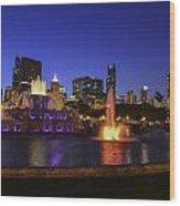 Chicago Buckingham Fountain Wood Print