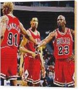 Chicago Bulls Big 3 Wood Print