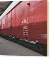 Chicago Burlington Quincy Freight Cars Wood Print
