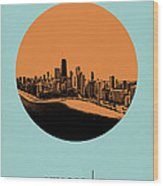 Chicago Circle Poster 2 Wood Print