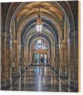 Chicago City Hall 1st Floor Hallway Area Hdr 01 Wood Print